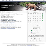 Tauck World Discovery Availability Calendar Page
